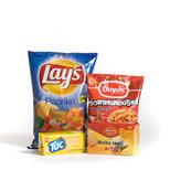 Chips, snacks, snoep